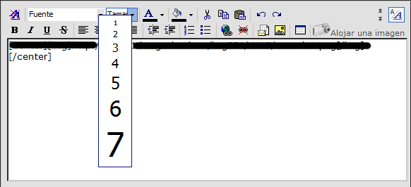 Cambiar tamaño fuente del texto PA-1