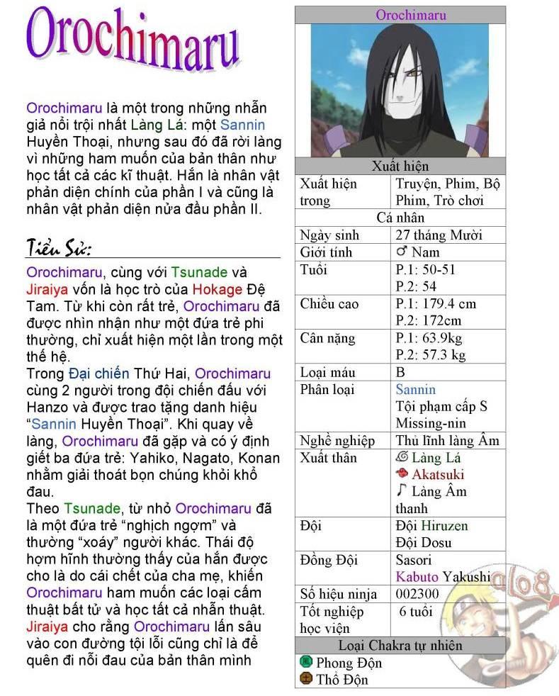 [Nhân vật] Orochimaru 01