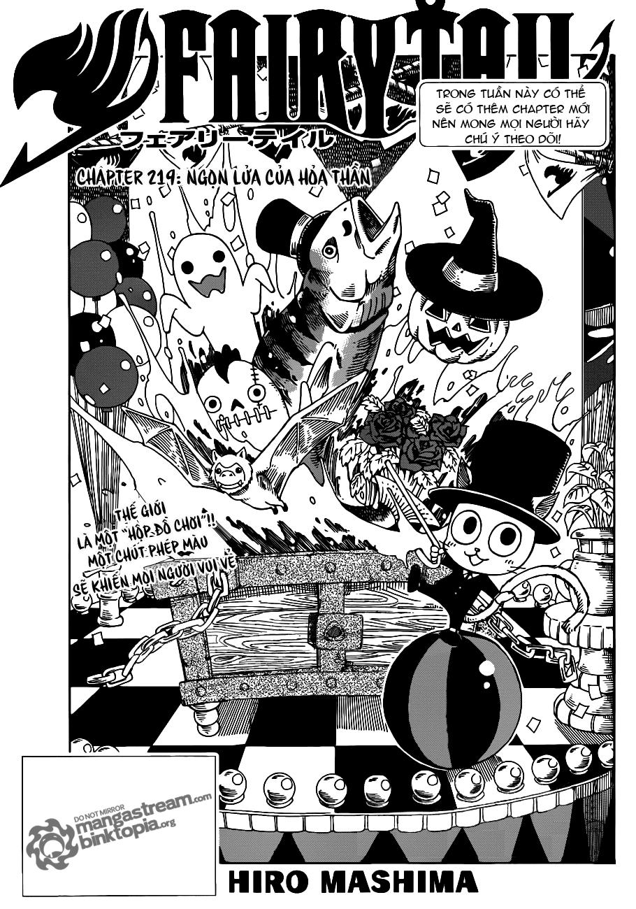 Fairy Tail Chapter 219 Tiếng Việt - Ngọn Lửa Của Hỏa Thần 01