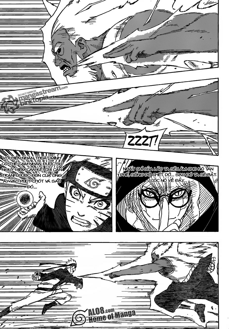 """Naruto Chapter 555 Tiếng Việt - """"Mâu Thuẫn""""! 014"""