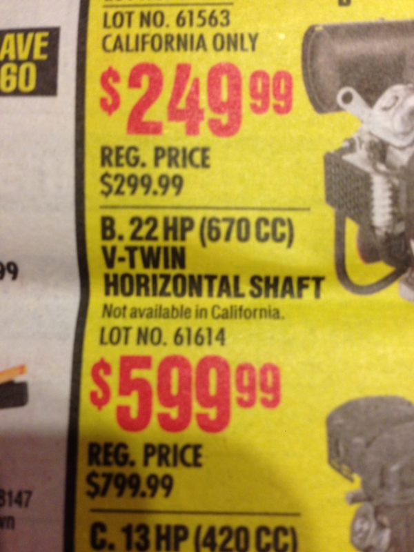 22HP V-Twin from Harbor Freight! Imagejpg1