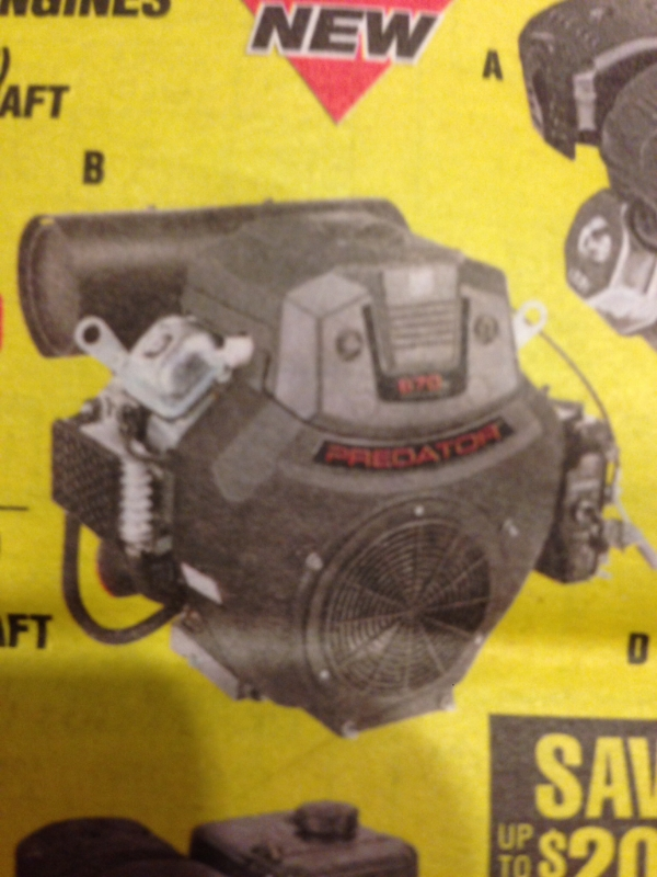 22HP V-Twin from Harbor Freight! Imagejpg2