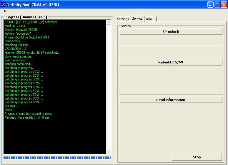 Logs of successfully unlocked/repaired phones by Infinity-Box CDMA-Tool  Huawei_C5005_v117_By_aem_ul_infinit