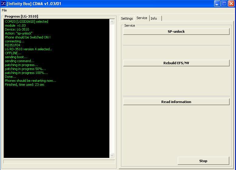 Logs of successfully unlocked/repaired phones by Infinity-Box CDMA-Tool  LG_RD_3510_ul_infinity