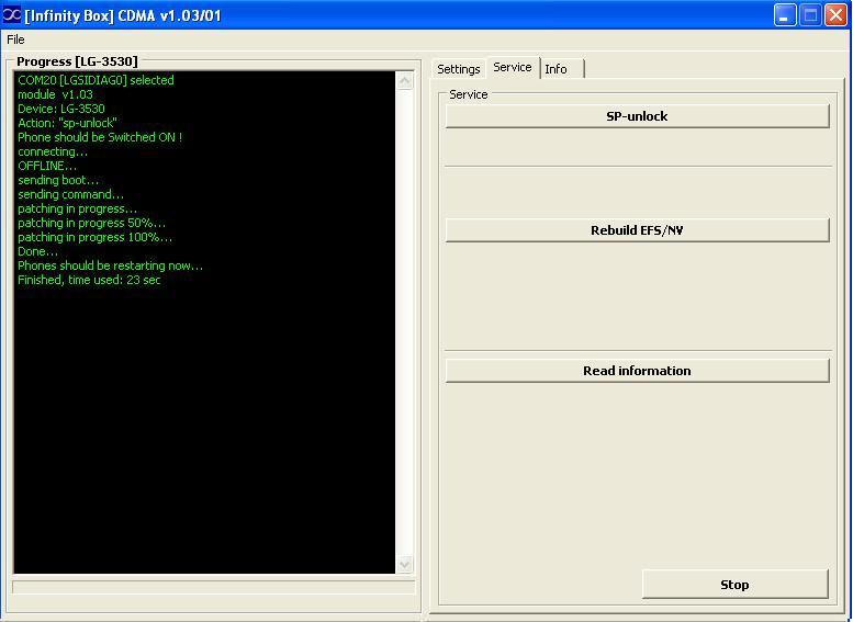 Logs of successfully unlocked/repaired phones by Infinity-Box CDMA-Tool  LG_RD_3530_ul_infinity