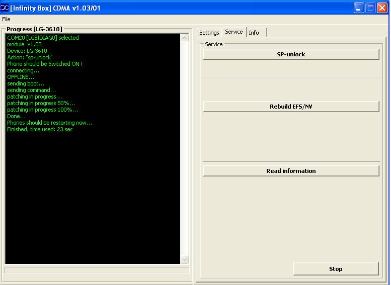 Logs of successfully unlocked/repaired phones by Infinity-Box CDMA-Tool  LG_RD_3610_ul_infinity