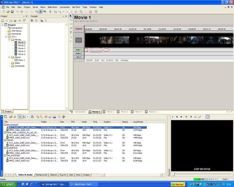 5 DVD's op 1 DVDschijf met menu Stap11
