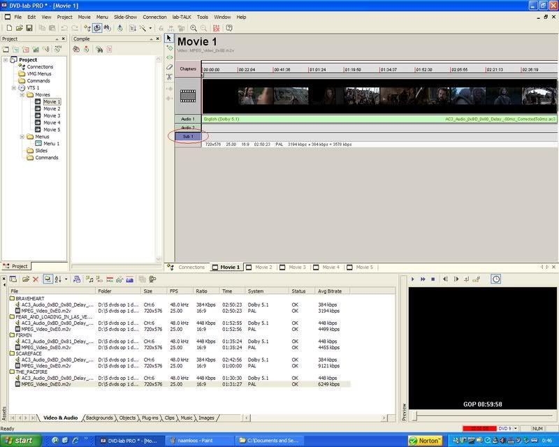5 DVD's op 1 DVDschijf met menu Stap13