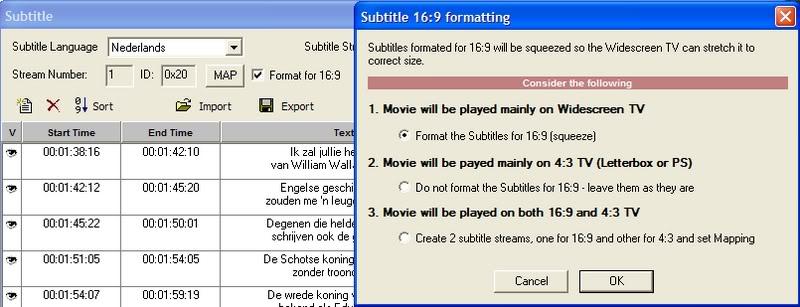 5 DVD's op 1 DVDschijf met menu Stap16