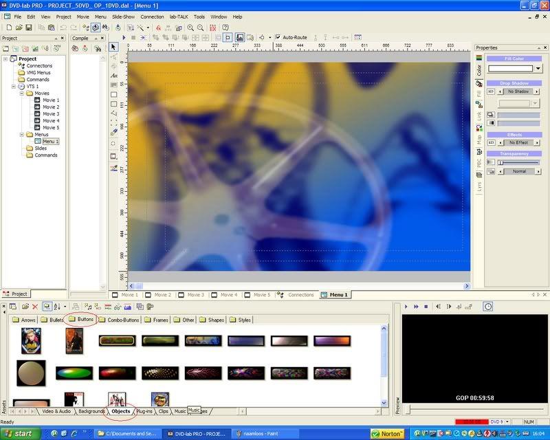 5 DVD's op 1 DVDschijf met menu Stap34