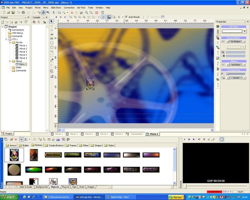5 DVD's op 1 DVDschijf met menu Stap35