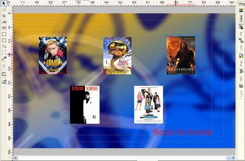 5 DVD's op 1 DVDschijf met menu Stap41
