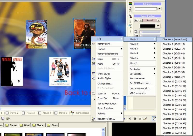 5 DVD's op 1 DVDschijf met menu Stap42