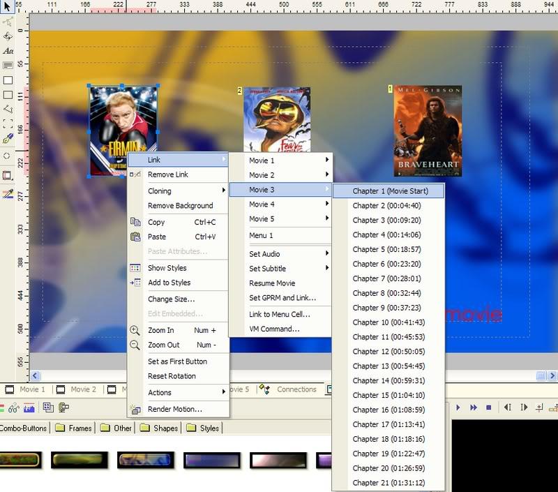5 DVD's op 1 DVDschijf met menu Stap43