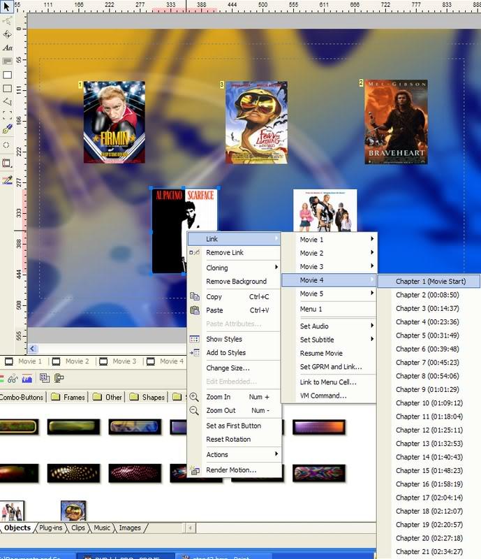 5 DVD's op 1 DVDschijf met menu Stap44