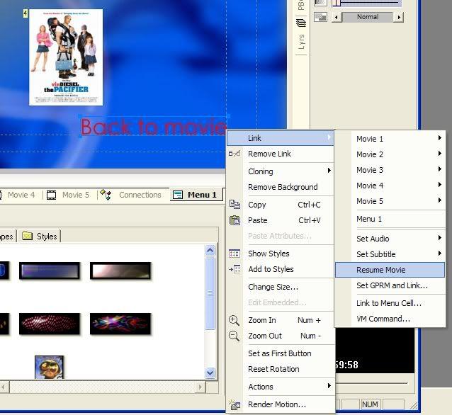 5 DVD's op 1 DVDschijf met menu Stap46