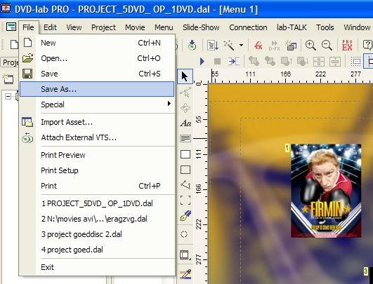 5 DVD's op 1 DVDschijf met menu Stap54
