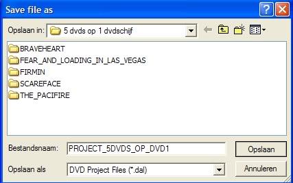 5 DVD's op 1 DVDschijf met menu Stap55