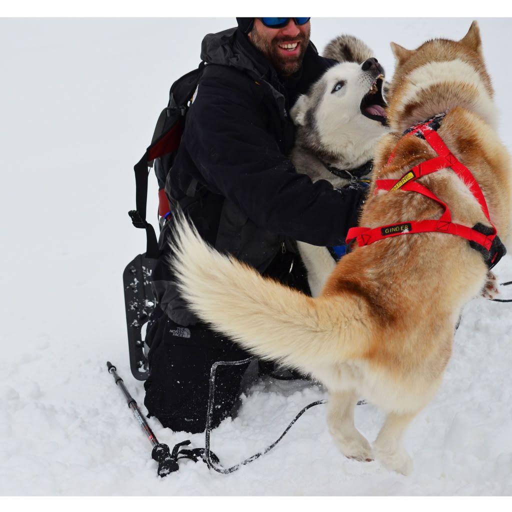 Storm's first snowshoeing trek! SnowshoeingattheRitz051