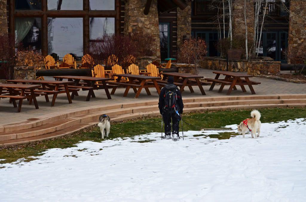 Storm's first snowshoeing trek! SnowshoeingattheRitz055