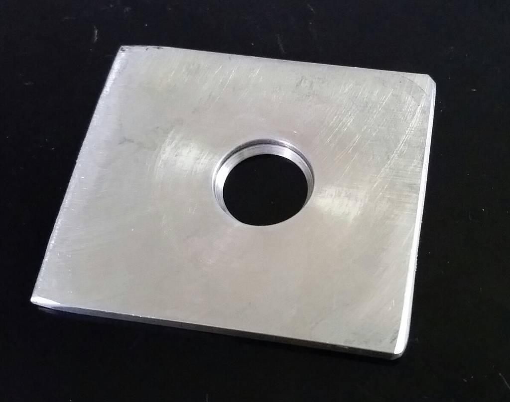 Aluminum Outlet - exit hole for laminar flow nozzle 20150626_150221-1