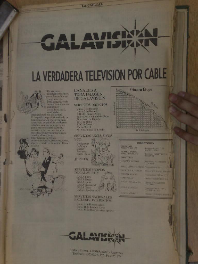 publicidades graficas del lanzamiento de galavision(VCC-rosario) en septiembre de 1991 14022012047