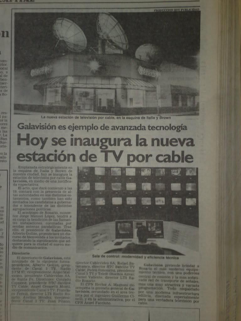 publicidades graficas del lanzamiento de galavision(VCC-rosario) en septiembre de 1991 14022012050