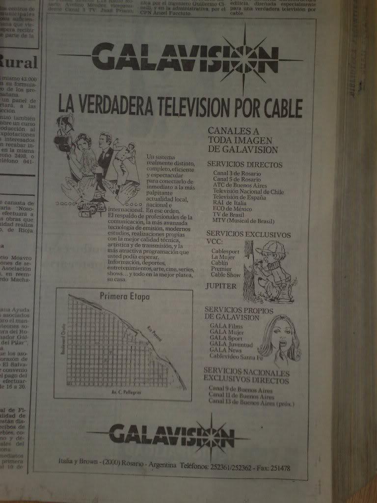 publicidades graficas del lanzamiento de galavision(VCC-rosario) en septiembre de 1991 14022012053