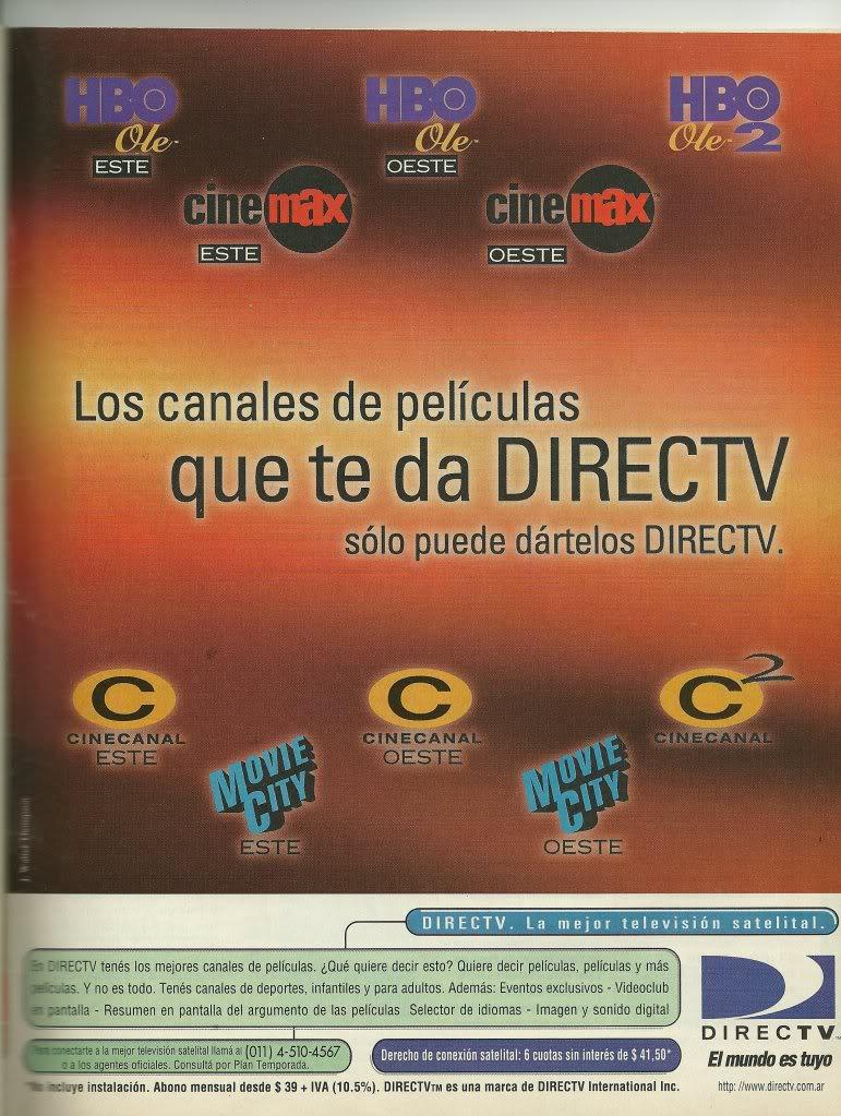Publicidad grafica de Direc TV de Marzo de 1999 SCAN0088