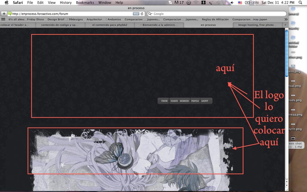 Como colocar el header arriba del cuadro del foro en phpbb3? Aqui