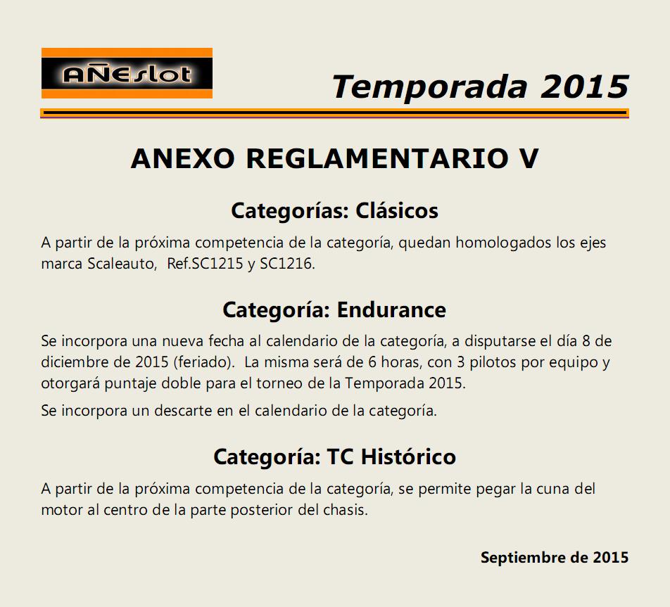 ANEXO REGLAMENTARIO V - Clásicos - Endurance - TC Histórico Anexo%20V_zpsappx8vsn