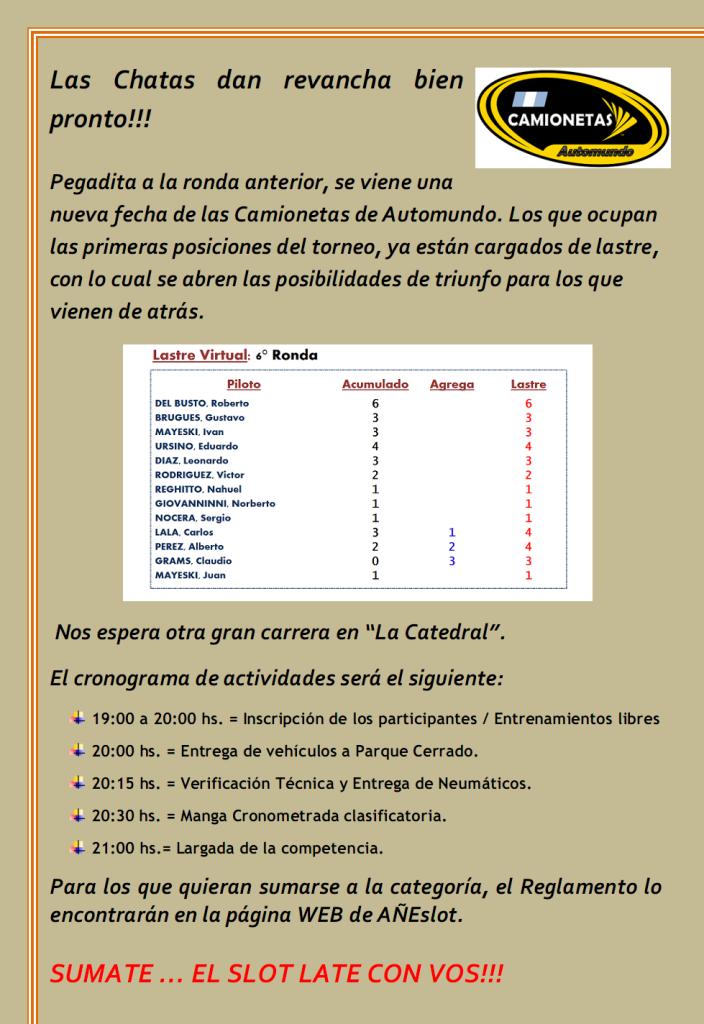 CAMIONETAS ▬▬ 7° RONDA ▬ CLASIFICACIÓN OFICIAL ▬ CAMPEONATO CAMIONETAS-Ronda07-Anuncio_zps57581e59