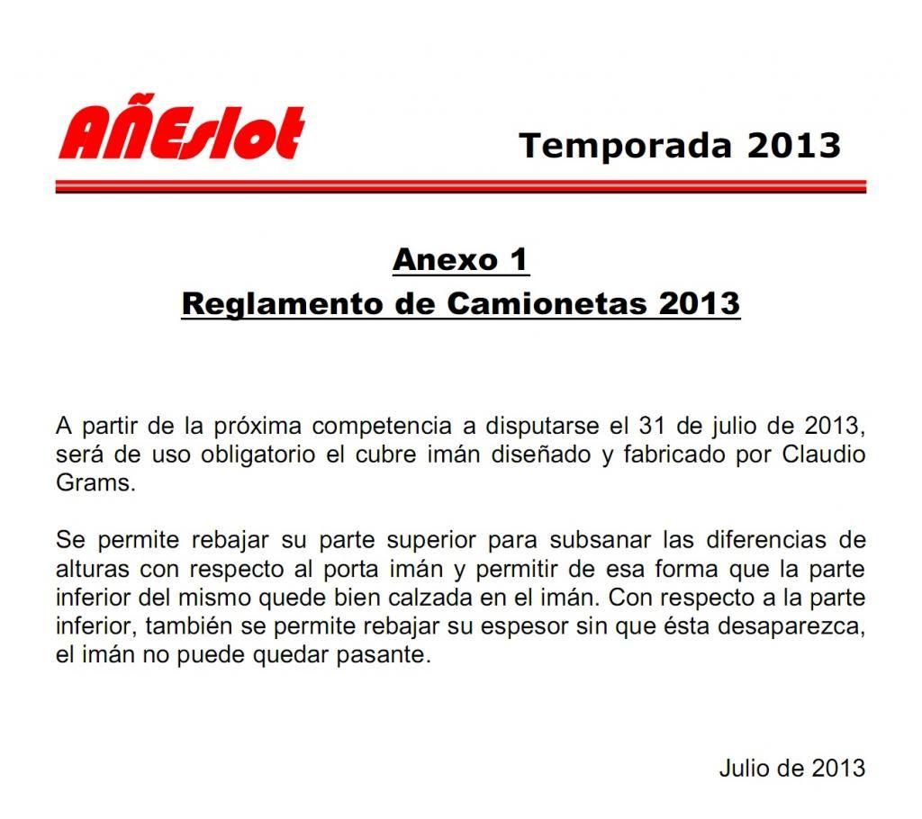 ANEXO 1 al REGLAMENTO 2013 de CAMIONETAS REGLAMENTOCAMIONETASAnexo1_zps63a6c0fb