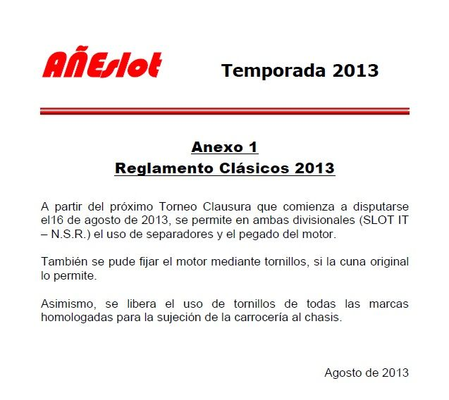 REGLAMENTO CLASICOS - Anexo 1 REGLAMENTOCLASICOSAnexo1_zps5250ad0b