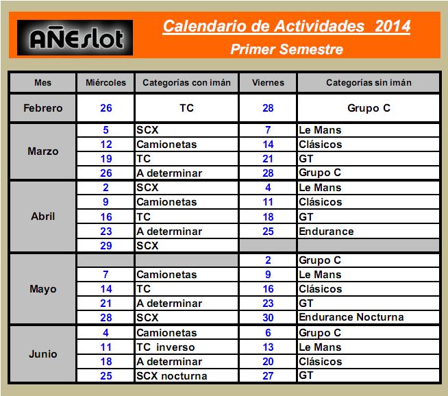 CALENDARIO ANUAL TEMPORADA 2014 Semestre1_zpscf18d17d