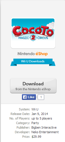Nintendo Wii U Downloads: 1/9/2014 North America! NintendocomndashCocotoMagicCircus2ndashGameInfo_zps85041b16