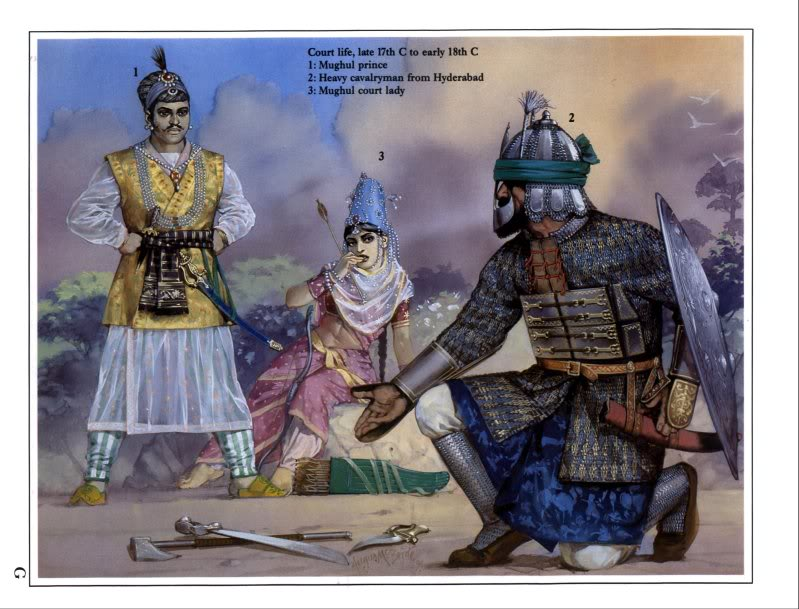 Guerrier Moghol 17-18ème siècle 75mm - Terminé Mughals7_zps10678879