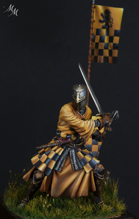 Joute à pied - Chevalier Siennois - première moitié du XIV Siècle par Marco 75mm IMG_6280_zpsvaxuv4mp