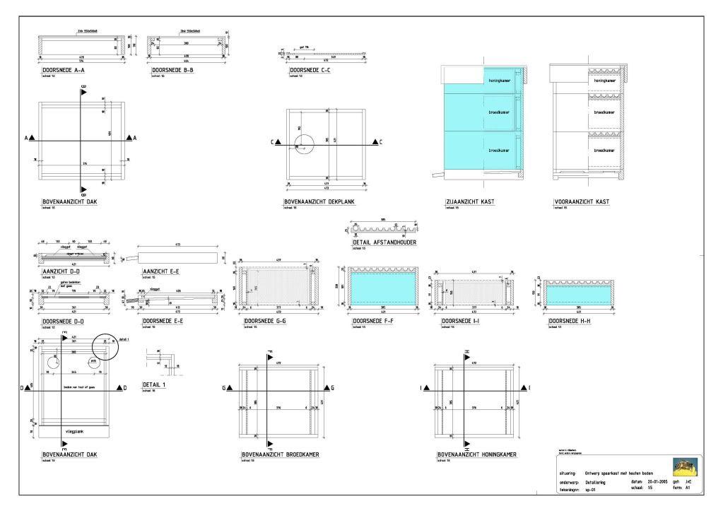 Bouw en bouwtekening Bijenkas Jos Bijenkas3
