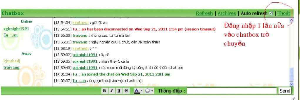 Hường dẫn sử dụng Chatbox trò chuyện! Chatbox