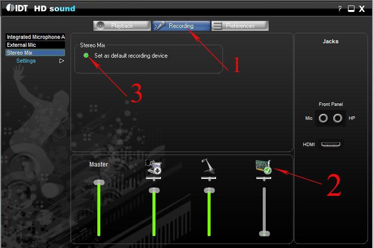 hát karaoke và thu âm trên PC và laptop Windows 7.vista IDT