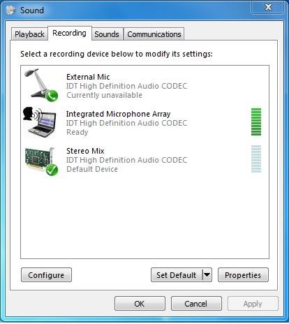 hát karaoke và thu âm trên PC và laptop Windows 7.vista IDT5