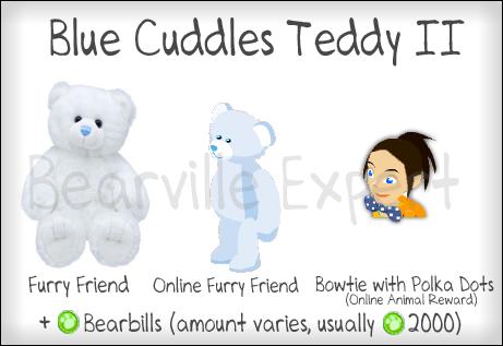 Blue Cuddles Teddy II - Bowtie with Polka Dots BluecuddlesteddyII