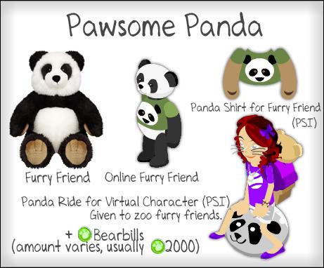 Pawsome Panada - Panda Tee for Online Furry Friend and Panda Bouncy Ball Ride for Virtual Character  Pawsomepanda