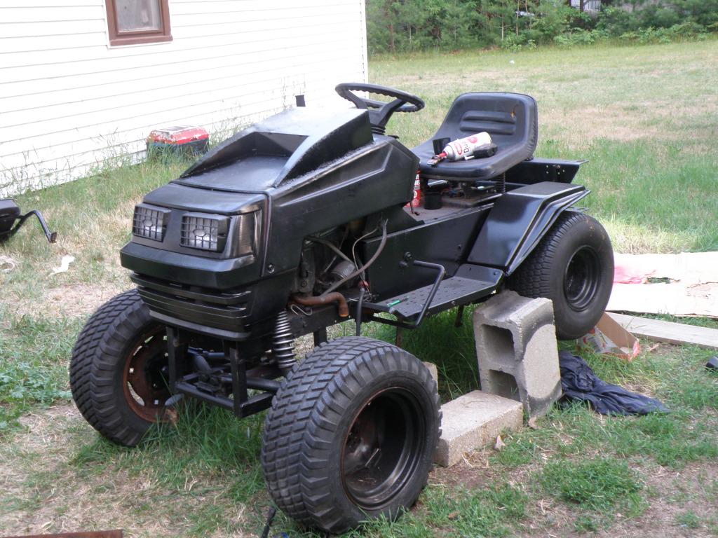 Lawn Tractor Hoods : Radio hood scoop dashboard