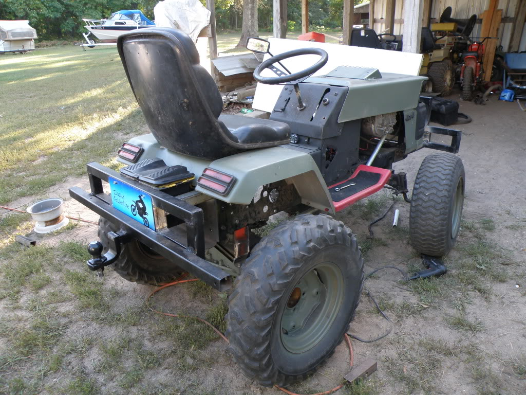 Lifted Lawn Mower
