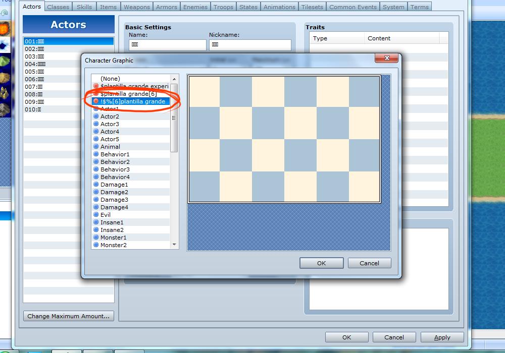 Más frames para los charas en el rpgmvx ACE? Screenshot1