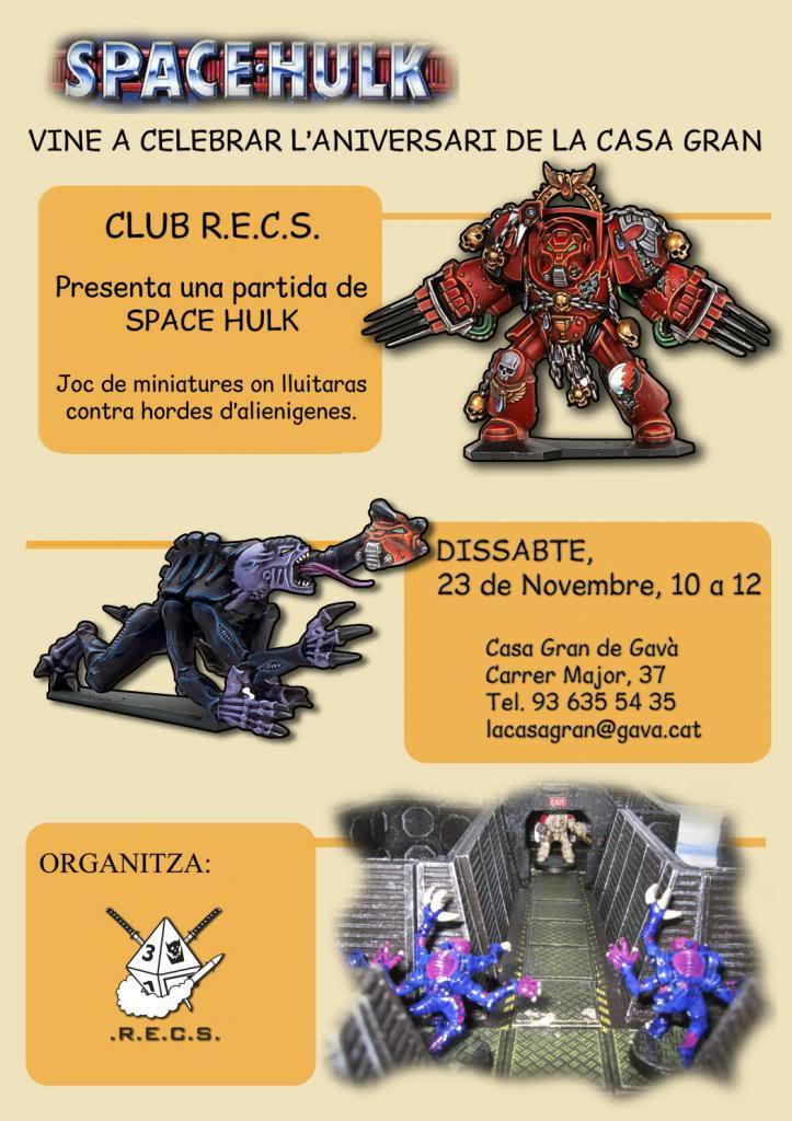 Club Recs - Portal RECS-CartellSpaceHulk-CasaGran-WEB_zps05c53973