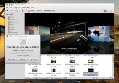 Ubuntu Nautilus-elementary-screenshot