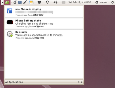 Ubuntu Recent-notifications